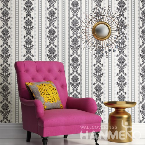 HANMERO European Grey Embossed Vinyl Wall Paper Murals 0.53*10M/roll Home Decor