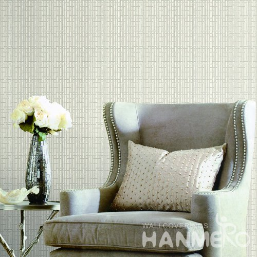 HANMERO Modern Grey Embossed Vinyl Wall Paper Murals 0.53*10M/roll Home Decor