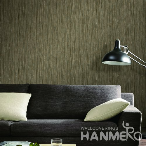 HANMERO Modern Brown Embossed Vinyl Wall Paper Murals 0.53*10M/roll Home Decor