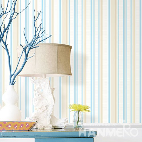 HANMERO Modern White And Blue Embossed Vinyl Wall Paper Murals 0.53*10M/roll Home Decor