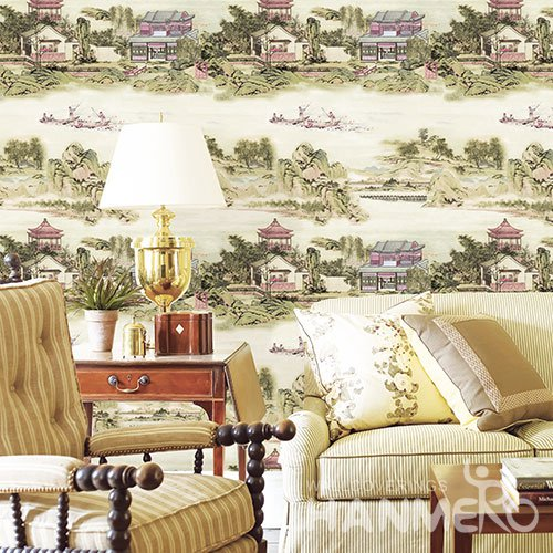 HANMERO Retro White Embossed Vinyl Wall Paper Murals 0.53*10M/roll Home Decor