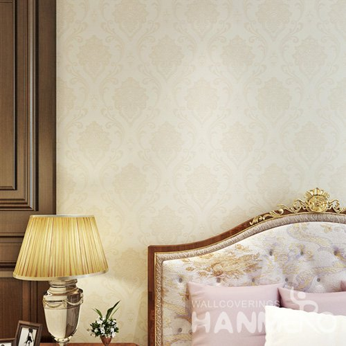 HANMERO European Glod Embossed Vinyl Wall Paper Murals 0.53*10M/Roll Home Decor