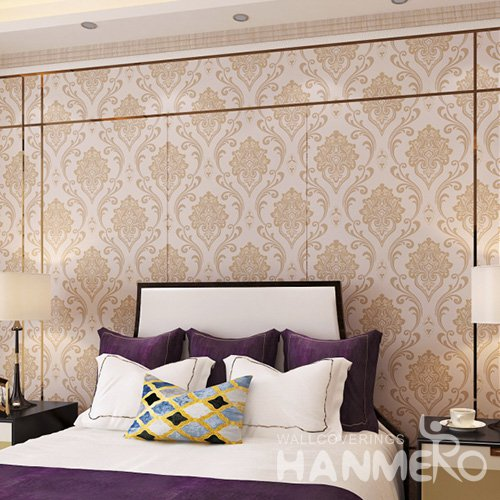 HANMERO European Brown Embossed Vinyl Wall Paper Murals 0.53*10M/Roll Home Decor