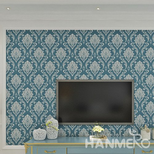 HANMERO European Floral Embossed Vinyl Wall Paper Murals 0.53*10M/Roll Home Decor