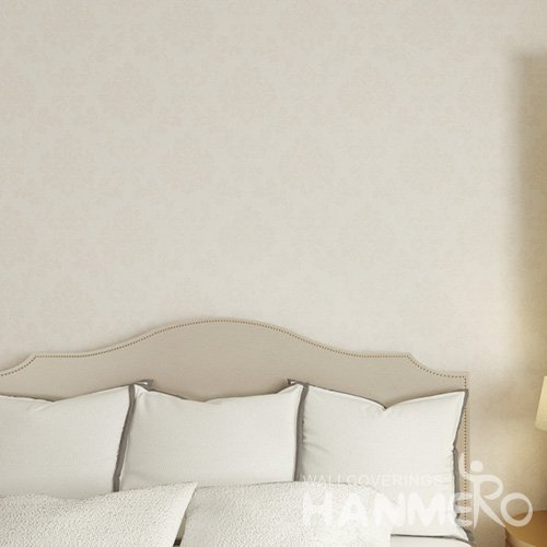 HANMERO European Pale yellow Embossed Vinyl Wall Paper Murals 0.53*10M/Roll Home Decor
