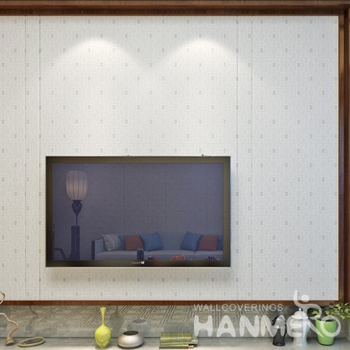 HANMERO Modern White Embossed Vinyl Wall Paper Murals 0.53*10M/Roll Home Decor