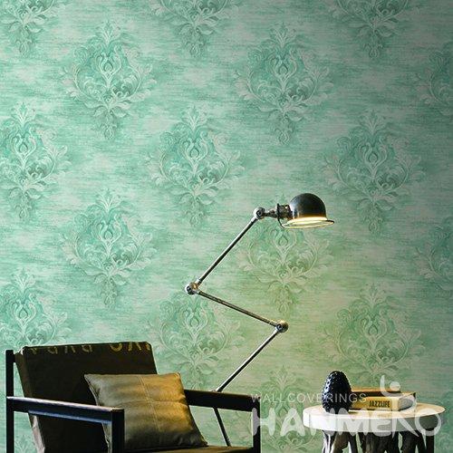 Hanmero European Green Printed Vinyl Wallpaper 0.53*10M/Roll For Room Decoration