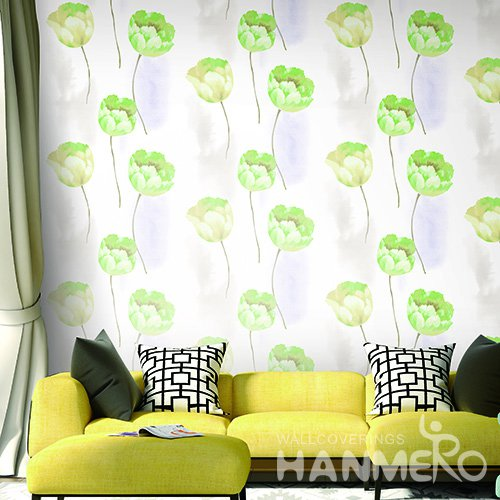 Hanmero Pastoral Floral Printed Vinyl Wallpaper 0.53*10M/Roll For Room Decoration