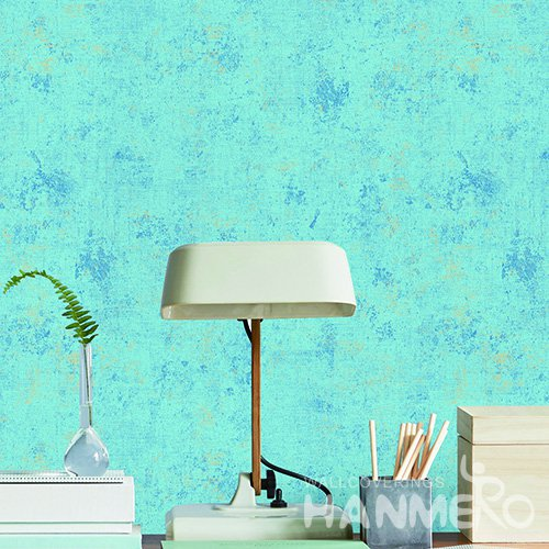 Hanmero Modern Blue Printed Vinyl Wallpaper 0.53*10M/Roll For Room Decoration