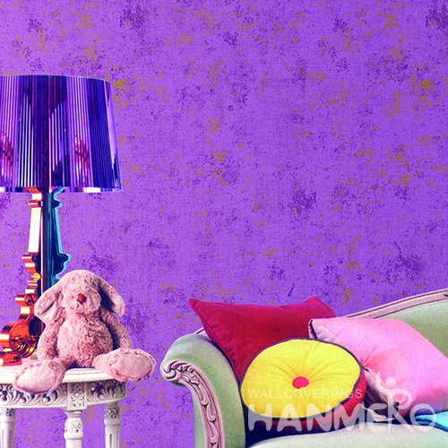 Hanmero Modern Purple Printed Vinyl Wallpaper 0.53*10M/Roll For Room Decoration