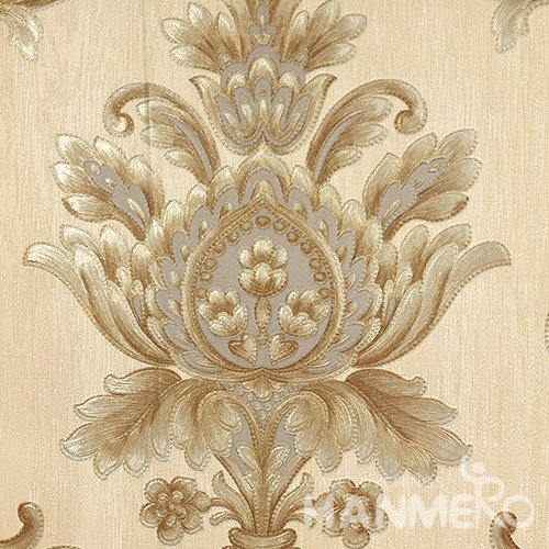 Hanmero Home Decoration Gold Floral European Vinyl Embossed Wallpaper 0.53*10M/Roll