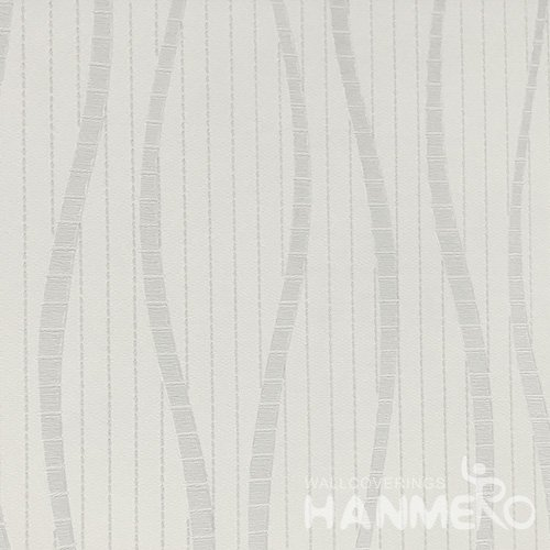 Hanmero Home Decoration Grey Geometric Curve Modern Vinyl Embossed Wallpaper 0.53*10M/Roll