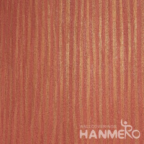 Hanmero Home Decoration Orange Solid Color Modern Vinyl Embossed Wallpaper 0.53*10M/Roll