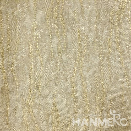 Hanmero Home Decoration Gold Simple Plain Color Modern Vinyl Embossed Wallpaper 0.53*10M/Roll
