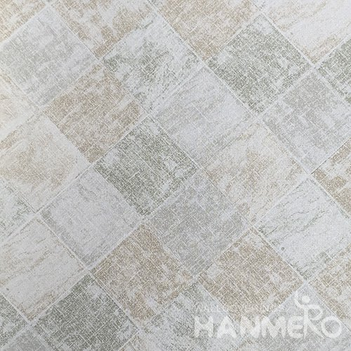 HANMERO New 3D PVC Foaming Modern Plaids Wallpaper 0.53*10M/Roll With SGS