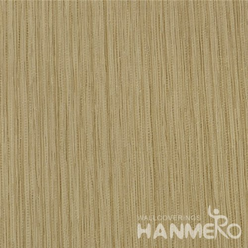 HANMERO Wall Decoration Modern PVC Foam Solid Brown Room Interior Wallpaper