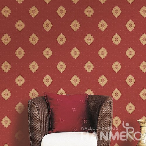 HANMERO Wall Decoration European PVC Foam Floral Red Room Interior Wallpaper