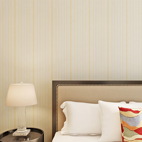 HANMERO Stripe Pattern Gold Color Vinyl Embossed Home Wallpaper
