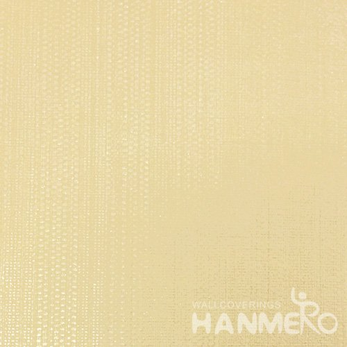 HANMERO Modern PVC Embossed With Yellow Solid Wide Korean Wallpaper 1.06*15.6M/Roll