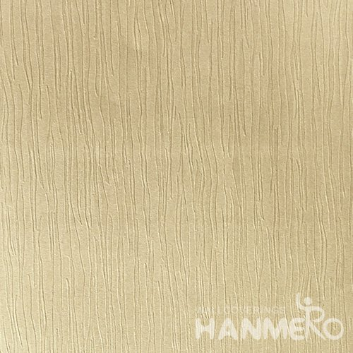 HANMERO Modern Solid Gold Color PVC Interior Wallpaper Decorative Embossed