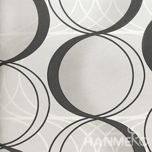 HANMERO 3D PVC Modern Black And White Wallpaper Floral  0.53*10M/Roll For Home Room Decor