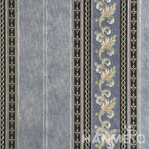 HANMERO European Vinyl Embossed Floral Grey Wallpaper For Bedding Living Room