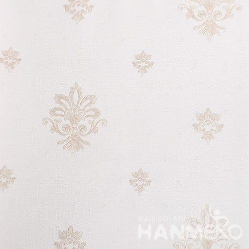 HANMERO European Vinyl Embossed Floral Pink Wallpaper For Bedding Living Room