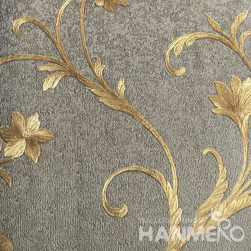 HANMERO European Vinyl Emossedb Floral Brown Wallpaper For Bedding Living Room