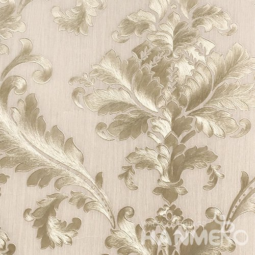 HANMERO Standard Floral PVC Wallpaper European Yellow  0.53*10M/Roll For Room Wall