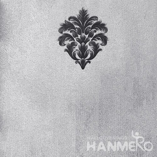 HANMERO Standard Floral PVC Wallpaper European Grey  0.53*10M/Roll For Room Wall
