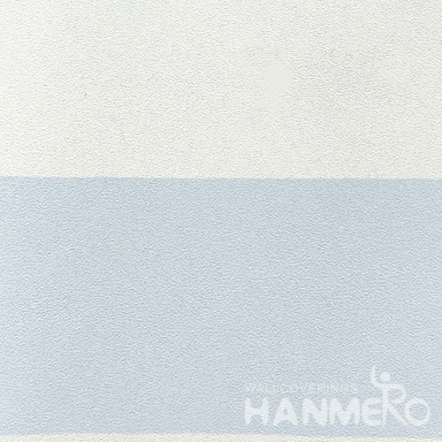 HANMERO Standard Stripes PVC Wallpaper Modern Blue  0.53*10M/Roll For Room Wall