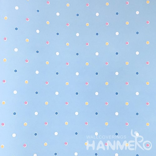 HANMERO Standard Carton PVC Wallpaper Modern Blue  0.53*10M/Roll For Room Wall