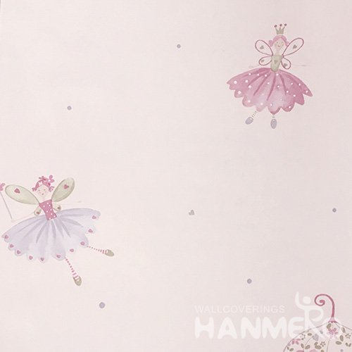 HANMERO Standard Carton PVC Wallpaper Modern Pink  0.53*10M/Roll For Room Wall