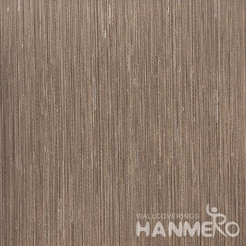 HANMERO Modern  0.53*10M/Roll PVC Wallpaper With Brown Solid Embossed Surface