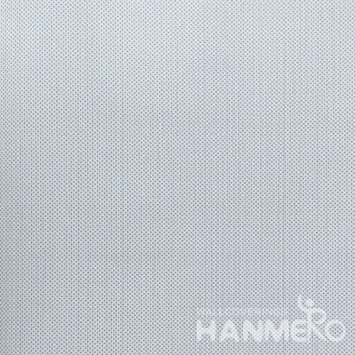 HANMERO Modern  0.53*10M/Roll PVC Wallpaper With Blue Solid Embossed Surface