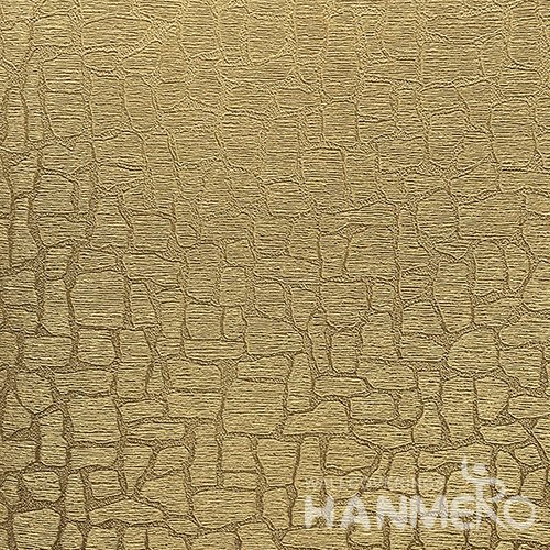 HANMERO Modern  0.53*10M/Roll PVC Wallpaper With Gold Crack Embossed Surface