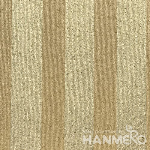 HANMERO Modern  0.53*10M/Roll PVC Wallpaper With Yellow Stripes Embossed Surface