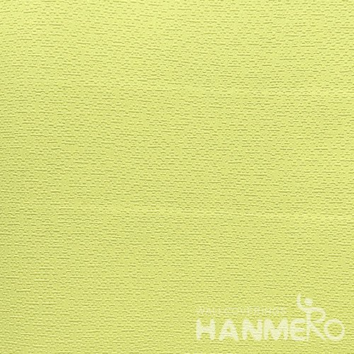 HANMERO Modern  0.53*10M/Roll PVC Wallpaper With Bright Yellow Solid Embossed Surface