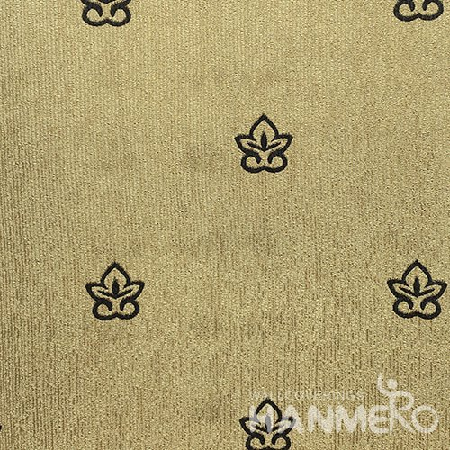 HANMERO Modern  0.53*10M/Roll PVC Wallpaper With Yellow Floral Embossed Surface