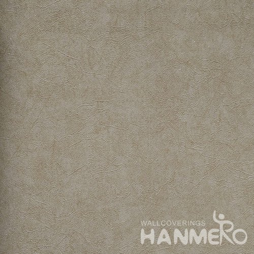 HANMERO Solid Color Modern Embossed Surface PVC Wallpaper With Brown Solid