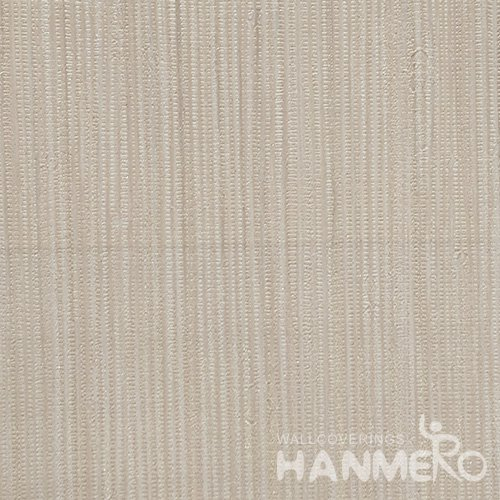 HANMERO Solid Color Modern Embossed Surface PVC Wallpaper With Beige Solid