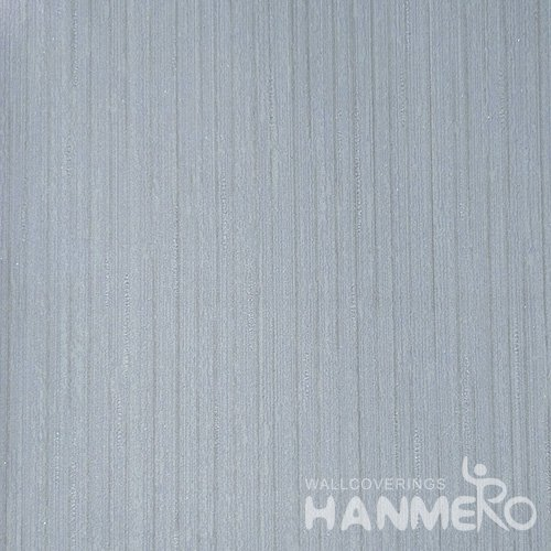 HANMERO Solid Color Modern Embossed Surface PVC Wallpaper With Blue Solid