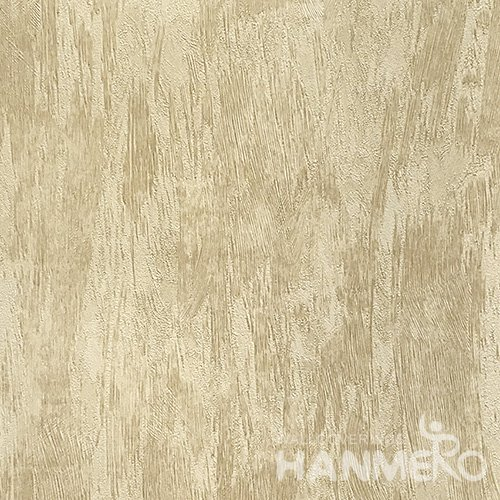 HANMERO Hot Selling 1.06*15.6M/Roll Modern PVC Embossed Yellow Solid Home Decorative Wallpaper