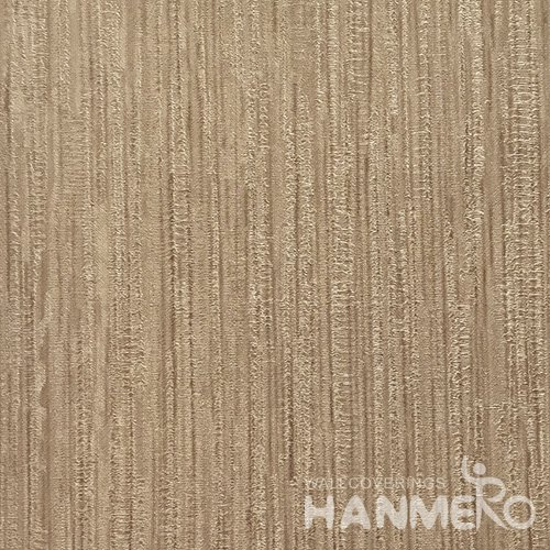 HANMERO Hot Selling 1.06*15.6M/Roll Modern PVC Embossed Brown Solid Home Decorative Wallpaper