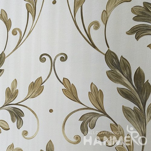 HANMERO Green Durable Vinyl Embossed Rural Leaf Wall Paper Decoration Interior