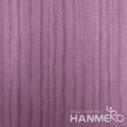 HANMERO Purple Durable Vinyl Embossed Modern Solid Wall Paper Decoration Interior