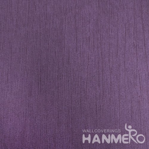 HANMERO Deep Purple Durable Vinyl Embossed Modern Solid Wall Paper Decoration Interior