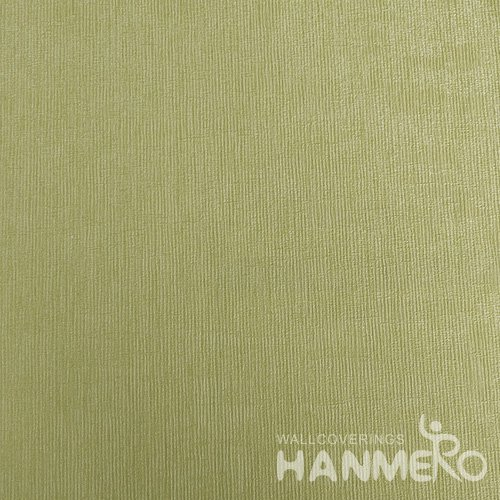 HANMERO Green Durable Vinyl Embossed Modern Solid Wall Paper Decoration Interior
