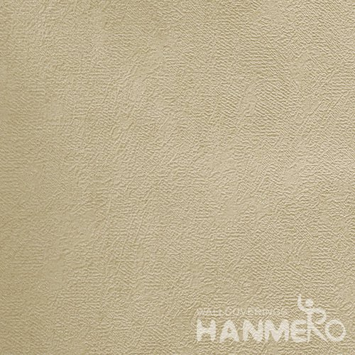 HANMERO Brand New Italian Design Modern PVC Embossed Brown Solid Home Wallpaper