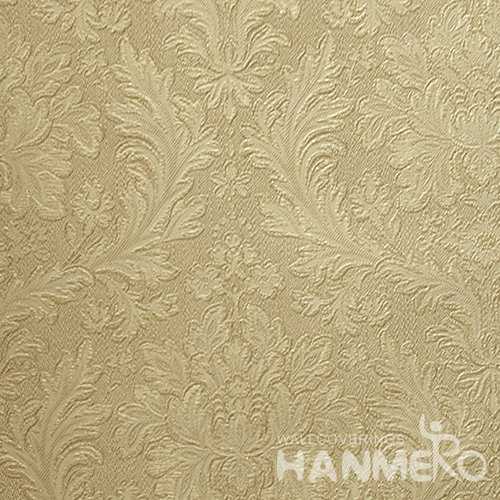 HANMERO Brand New Italian Design Classic PVC Embossed Yellow Floral Home Wallpaper